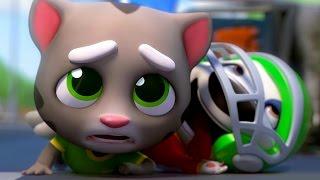 Говорящий кот Том бег за ЗОЛОТОМ. Анжела и Хэнк Игровой мультфильм. Мультик игра видео для детей