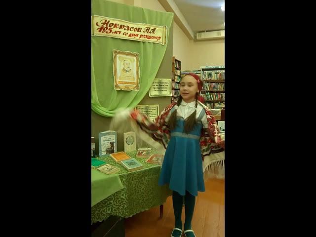 Изображение предпросмотра прочтения – ЗлатаБольшакова читает произведение «Школьник» Н.А.Некрасова
