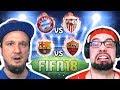 YOUTUBER DUELL | FC Bayern vs Sevilla | Barcelona vs AS Rom