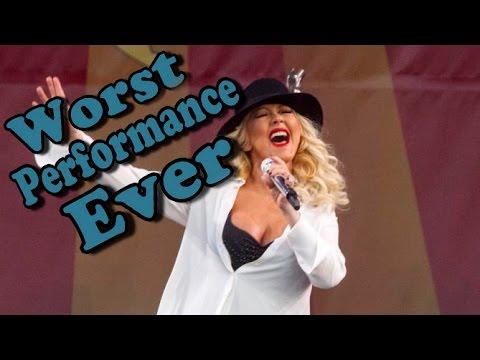 Christina Aguilera - Worst Performance Ever - Dirrty Shreds