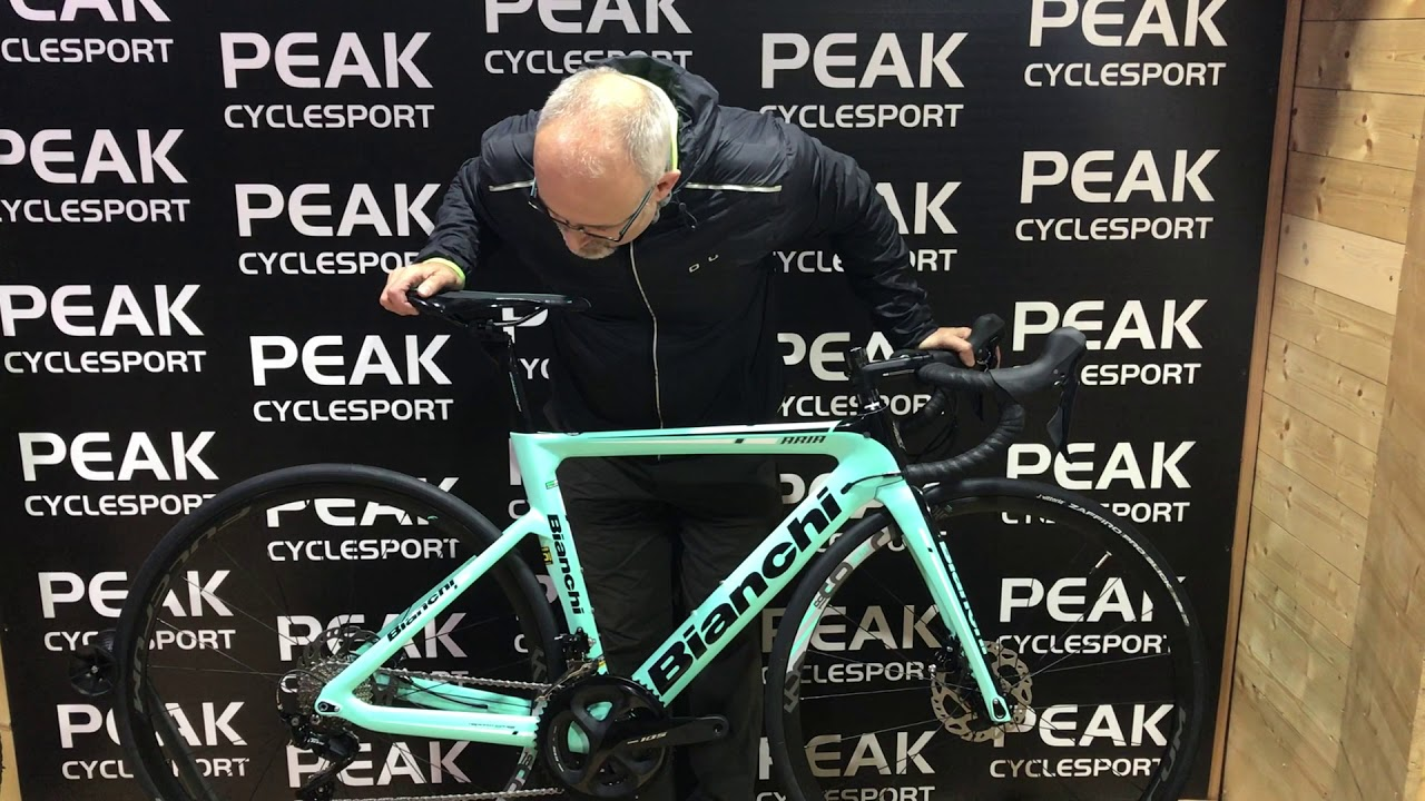 cae148cd Bianchi Aria 105 Disc 2019 - PEAK cyclesport - YouTube