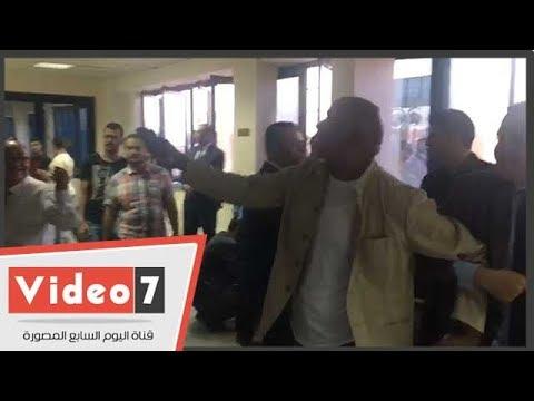مشادة على هامش مؤتمر نقابة الإعلاميين وإخراج أحد الأعضاء خارج القاعة  - 22:22-2018 / 7 / 18