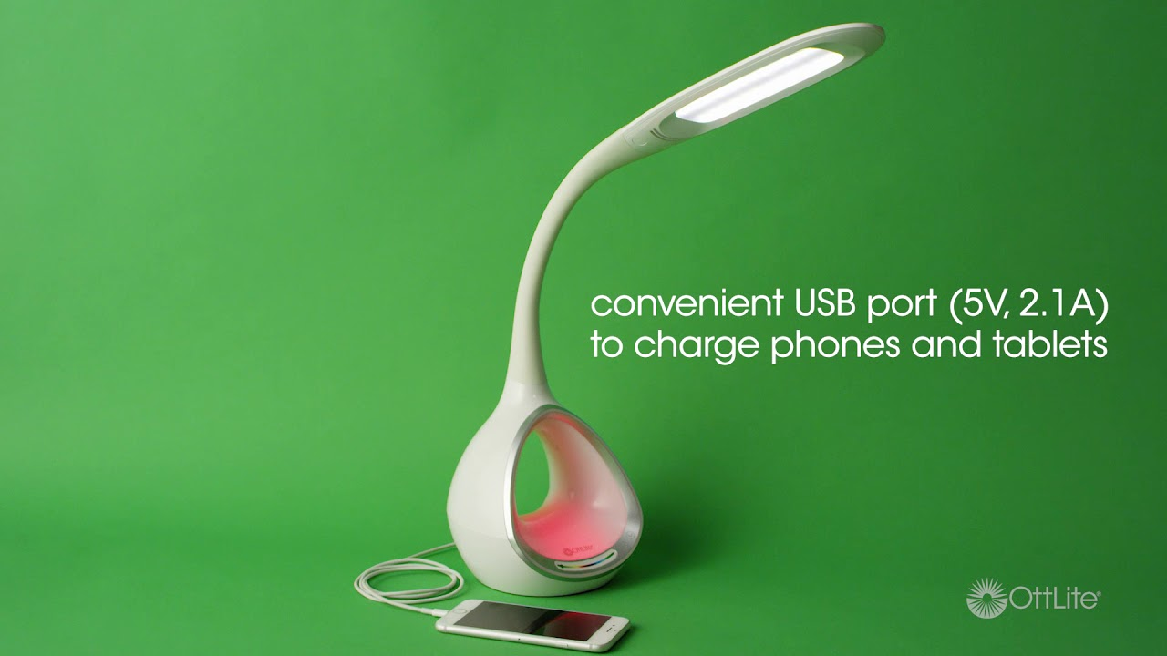 Led Desk Lamp With Color Changing Tunnel Usb Ottlite