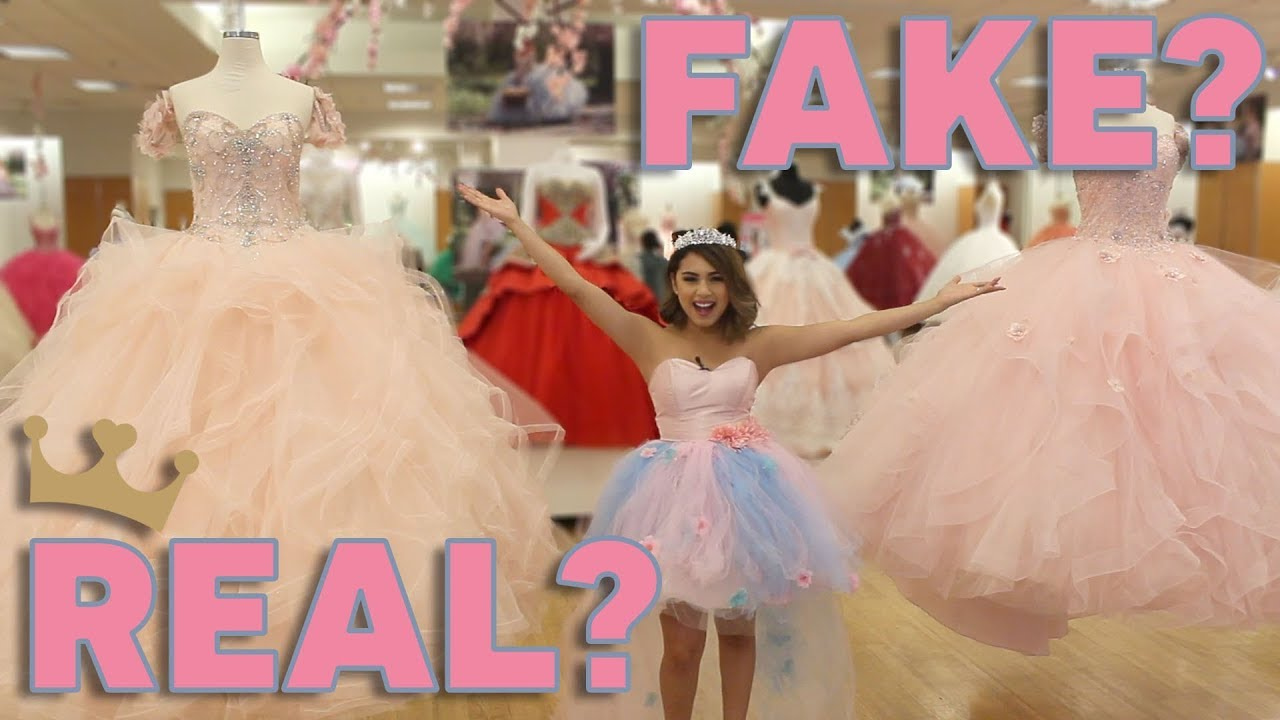 fe9c4799ff Trying on Quinceanera Dresses  Real vs Fake - YouTube