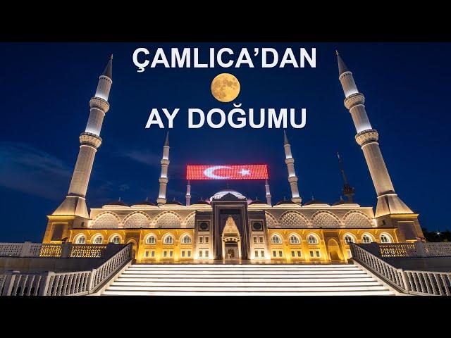 Çamlıca Camiiden AY doğumu / Moonrise from Çamlıca Mosque