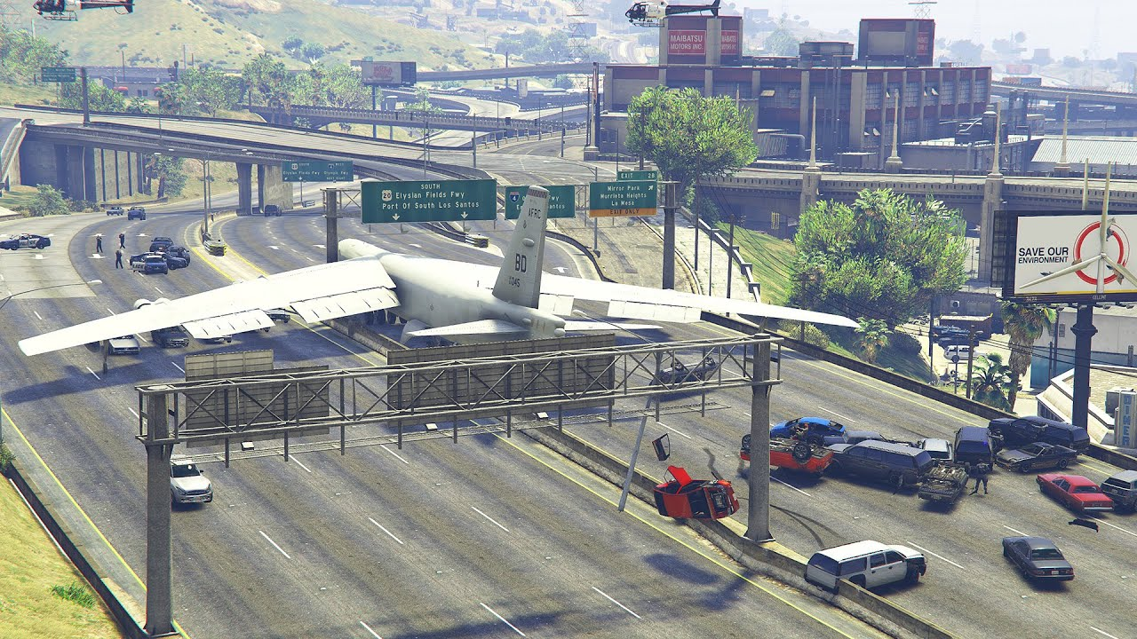 Crazy B52 Pilot Crashes on Highway After Trump Lost Election | GTA5