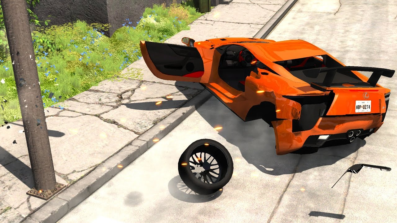 Out Of Control Crashes 10 Beamng Drive Realistic Car Crashes