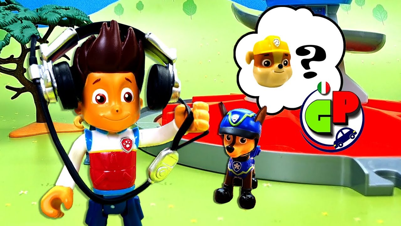 Paw patrol operazione di salvataggio. cartone animato con giocattoli