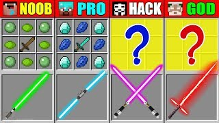 Minecraft NOOB vs PRO vs HACKER vs GOD STAR WARS SWORD CRAFTING CHALLENGE in Minecraft Animation