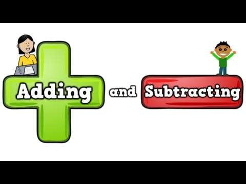Adding and Subtracting (song for kids about addition/subtracting)