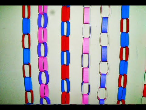 DIY | How to make Decorative Paper Chain with colorful paper |
