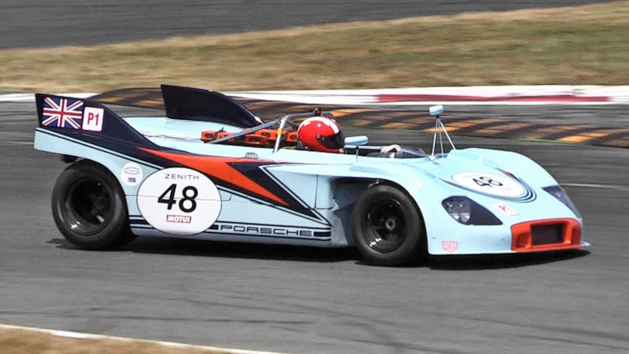 Porsche 908/3 Flat-8 Engine Sound - Warm Up & In Action On Track