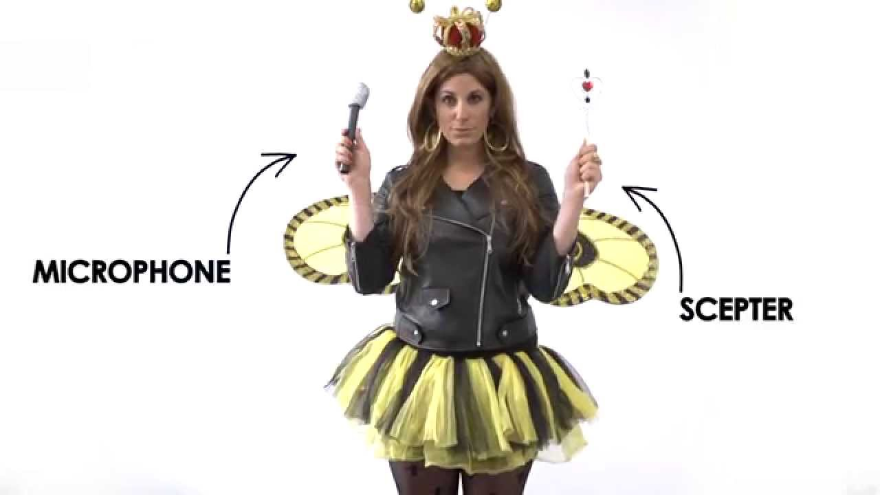 Queen Bee  Costume - YouTube  sc 1 st  YouTube & P.S.- I made this...