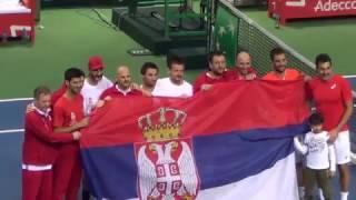 Джокович после победы Сербии над сборной России в Нише