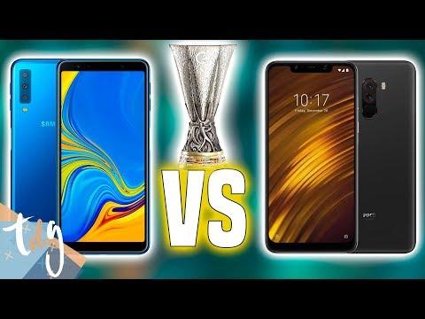 POCOPHONE F1 vs Galaxy A7: EUROPA LEAGUE