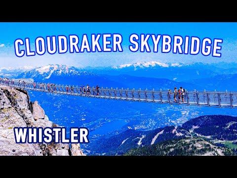 [4K] World's Highest Elevation Suspension Bridge On Mt.Whistler In Canada
