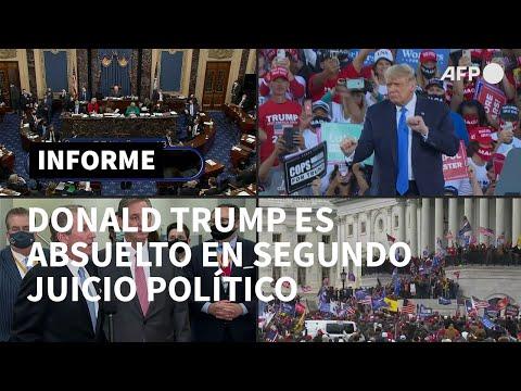 Trump es absuelto, por segunda vez, tras histórico proceso en el Senado de EEUU | AFP