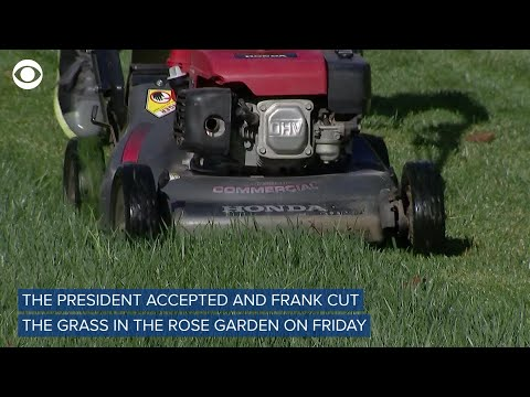 11-Year-Old Mows White House Lawn