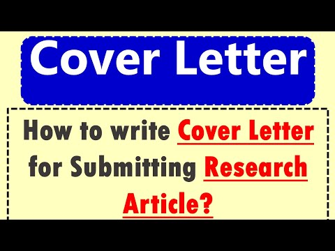 How To Write Cover Letter? | How To Write Cover Letter For Research Article?