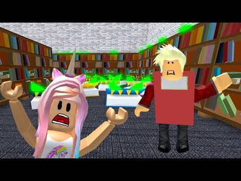 ROBLOX Escape The Evil Library Obby