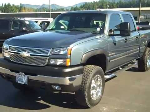 SOLD-2006 Chevrolet Silverado 2500 Crew Cab Short Bed LT 4X4 Duramax Diesel Blue Art Gamblin ...