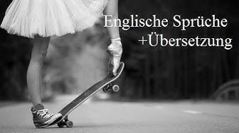 Englische schöne Sprüche und Übersetzung