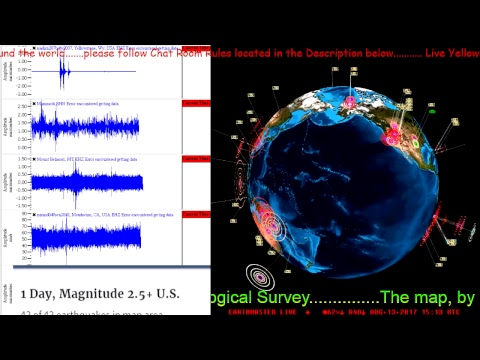 LIVE* Yellowstone Earthquake WATCH* LIVE Earthquake Data..Earthquake 3D... Live Chat.