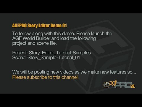AGFPRO Story Editor Tutorial 01 |