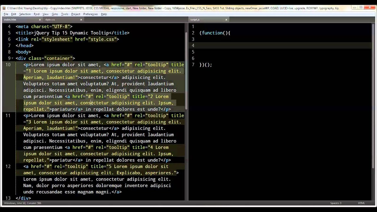 jQuery Tip 15 Dynamic Tooltip