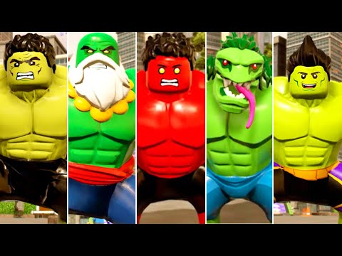 All Big-Fig Hulk & Spider-Man Characters Assemble in LEGO Marvel Super Heroes 2  
