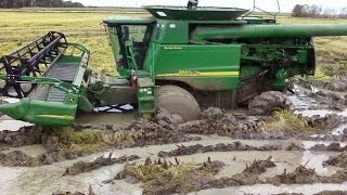 Funny Tractors Accsident and Big Troubles-Stuck in The Mud