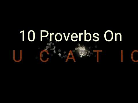 |Top 10 Proverbs On Education| By--MOTIVE THOUGHTS