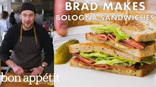 brad-makes-fried-bologna-sandwiches-from-the-test-kitchen-bon-apptit
