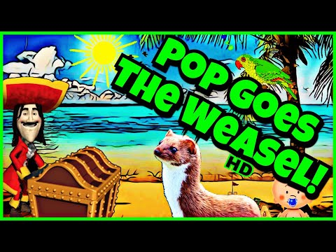 Pop Goes The Weasel Song With Vocals!  Family Singalong Fun! HD Animation