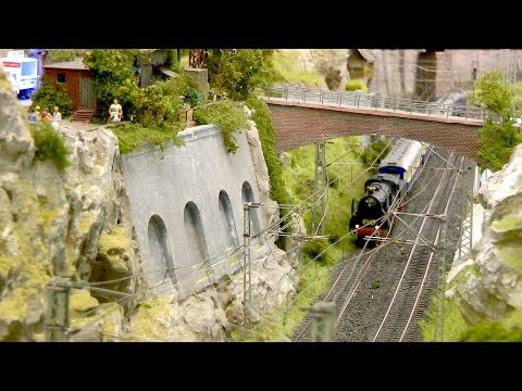 HO Scale Model Railroad Layout made by a German Model Railroader Club