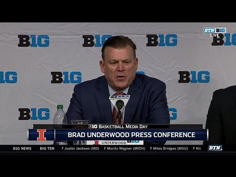 Brad Underwood Big Ten Media Day Press Conference 10/19/17
