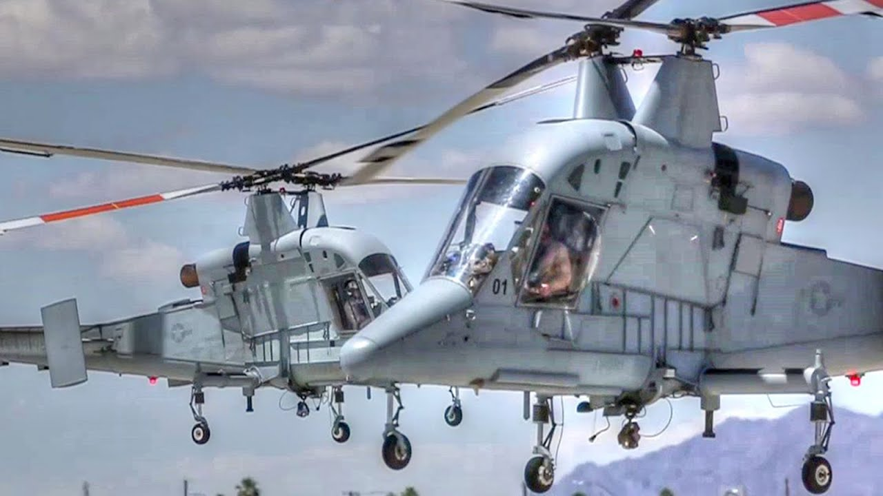 Unique Intermeshing-Rotor Helicopter Kaman K-MAX Landing ...