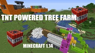 TNT Powered Tree Farm In Minecraft 1.14 Tutorial
