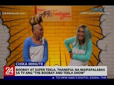 "Boobay at Super Tekla, thankful na maipapalabas sa TV ang ""The Boobay and Tekla Show"""