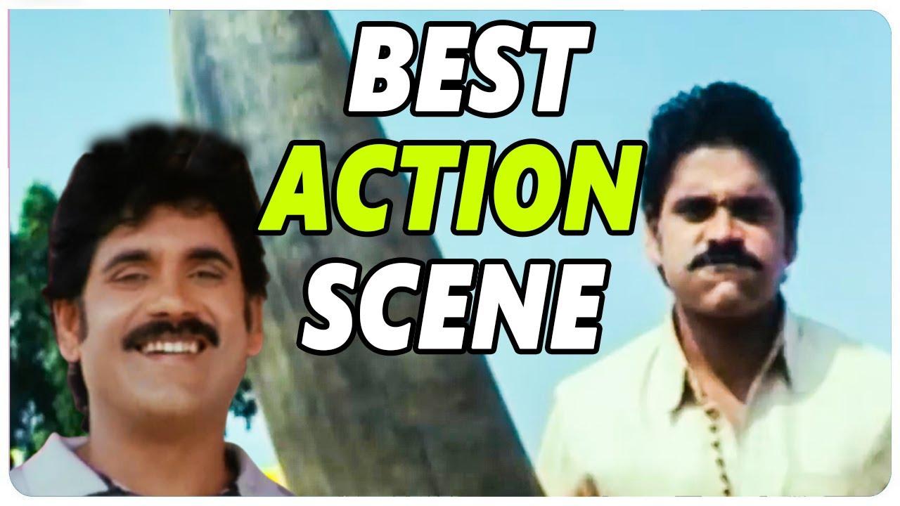 Eduruleni Manishi Movie ||  Nagarjuna Fight With Bull || Nagarjuna || Soundarya  || shalimarcinema
