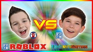 GamerBoyJJM & Fraser2TheMax in Roblox Epic Minigames!!!