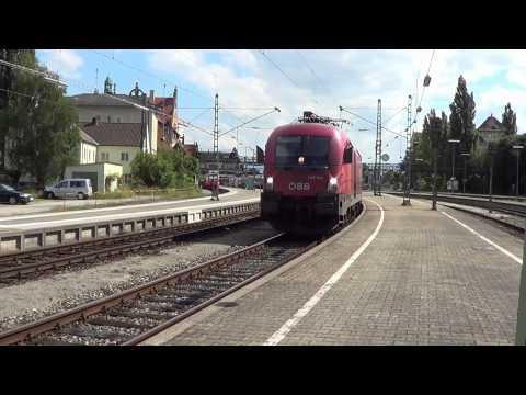 Bahnverkehr von Buchs SG bis Singen am 07.08.12 - Der CH / AT / D Grenze nach!