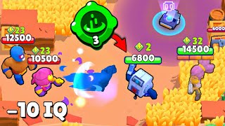 HOW TO TROLL A TEAM with 8-Bit in Brawl Stars / Funny Moments & Fails & Glitches #90