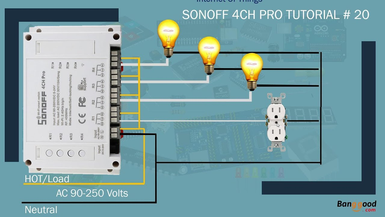 IOT     Home    Automation   Sonoff 4ch Pro part1  Tutorial   20  YouTube