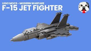 LEGO McDonnell Douglas F-15 Jet Fighter Model [Video Instructions]