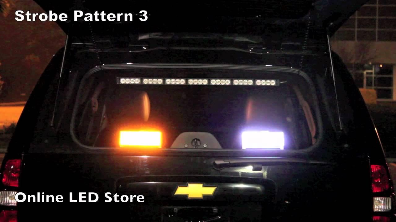 96 LED Emergency Strobe Light   Amber U0026 White