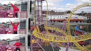 Sky Drop front seat on-ride HD POV Adventure Island