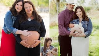 Woman gives birth to her GRANDSON after her daughter was diagnosed with cervical condition that mean