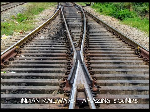 Epic honking & TRACK SOUNDS at Crossover part 1: Indian Railway