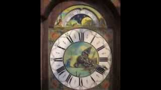 Large Warmink Dutch 8 Day Oak Wood Friese Tailed Staartklok Wall Clock With Moon Phase